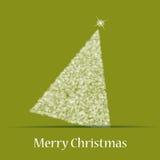 Tema di natale con l'albero di Natale Illustrazione di Stock