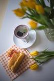 Tema di Pasqua, caffè Immagini Stock