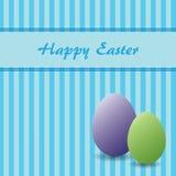 Tema di Pasqua con due uova Illustrazione Vettoriale