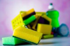 Tema di pulizia della Camera fotografie stock libere da diritti