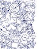 Tema di scienza di matematica Modello disegnato a mano circa la scuola ed imparare nello stile di scarabocchio royalty illustrazione gratis