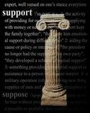 Tema di sostegno Fotografia Stock Libera da Diritti