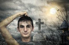 Tema divertente di Halloween Fotografie Stock Libere da Diritti