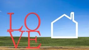 tema do amor e conceito do Valentim Foto de Stock