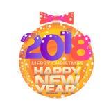 Tema do ano novo do cartaz ou do cartão Foto de Stock