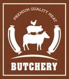 Tema do BBQ e do açougue Fotografia de Stock Royalty Free