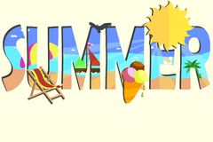 Tema do cartão de verão Foto de Stock