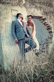 Tema do casamento foto de stock