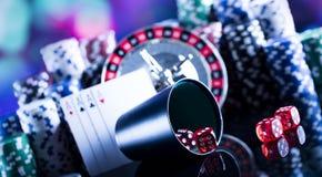 Tema do casino com espaço da cópia foto de stock royalty free