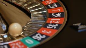 Tema do casino Imagem do contraste alto da roleta do casino filme