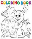 Tema 8 do coelho da Páscoa do livro para colorir
