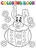 Tema 4 do coelho da Páscoa do livro para colorir Foto de Stock