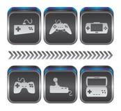 Tema do console do jogo Fotos de Stock Royalty Free