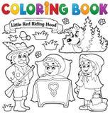 Tema 1 do conto de fadas do livro para colorir Fotos de Stock Royalty Free