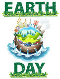 Tema do Dia da Terra Fotos de Stock