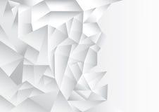 Tema do fundo do sumário do teste padrão do polígono, o branco e o cinzento Imagem de Stock Royalty Free