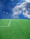 Tema do futebol ou do futebol fotografia de stock