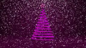 Tema do inverno para o fundo do Natal ou do ano novo com espaço da cópia Close-up da árvore do Xmas das partículas brilhantes do  ilustração royalty free