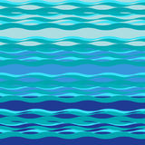 Tema do mar, ondas e brisa de mar, fundo do mar - vetor Fotos de Stock