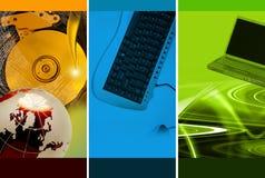 Tema do montagem do computador Fotografia de Stock Royalty Free