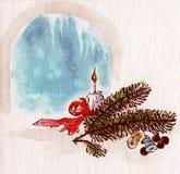 Tema do Natal Imagens de Stock