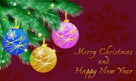 Tema do Natal Foto de Stock Royalty Free