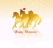 Tema do Natal do vetor ilustração stock