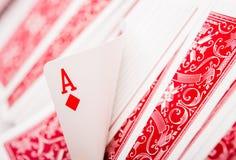 Tema do pôquer dos cartões de jogo Imagens de Stock