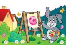 Tema 3 do pintor do coelhinho da Páscoa Foto de Stock Royalty Free