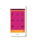 Tema do rosa do ícone de Smartphone Imagem de Stock