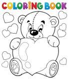 Tema 9 do Valentim do livro para colorir Foto de Stock Royalty Free
