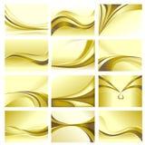 Tema dorato stabilito della priorità bassa astratta Immagine Stock