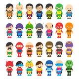 Tema dos desenhos animados do super-herói Foto de Stock Royalty Free