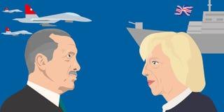 Tema dos líderes mundiais Fotos de Stock Royalty Free