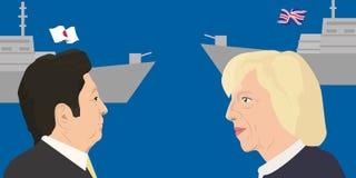 Tema dos líderes mundiais Foto de Stock