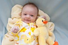 Tema Ducky recém-nascido Foto de Stock Royalty Free