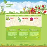 Tema ecologico per il sito Web Fotografie Stock