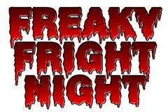 Tema extraño de Halloween de la noche del susto stock de ilustración