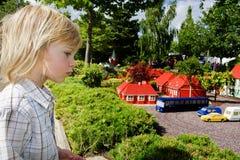 tema för barnlegolandpark Arkivfoto