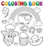 Tema 1 för dag för St Patricks för färgläggningbok vektor illustrationer