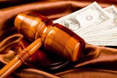 tema för domarelagmallet Arkivbild