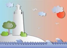 Tema för flotta för vektorpappersstil vektor illustrationer