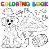 Tema 7 för hund för färgläggningbok Royaltyfri Bild