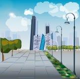 tema för illustration för arkitekturaffärsmitt Royaltyfri Foto