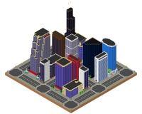 tema för illustration för arkitekturaffärsmitt skyskrapor _ royaltyfri illustrationer
