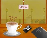 Tema för kafé för kaffevänvektor royaltyfria bilder