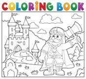 Tema 2 för krigare för dvärg för färgläggningbok royaltyfri illustrationer
