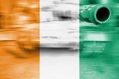 Tema för militär styrka, behållare för rörelsesuddighet med den `-Ivoire för skjul D flaen Arkivbilder