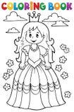 Tema 3 för prinsessa för färgläggningbok Arkivbilder