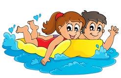 Tema 3 för sommarvattenaktivitet Royaltyfri Foto